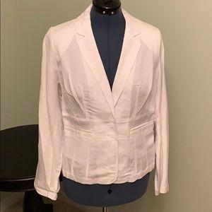 Lane Bryant White Linen Blazer Size 16 NWT